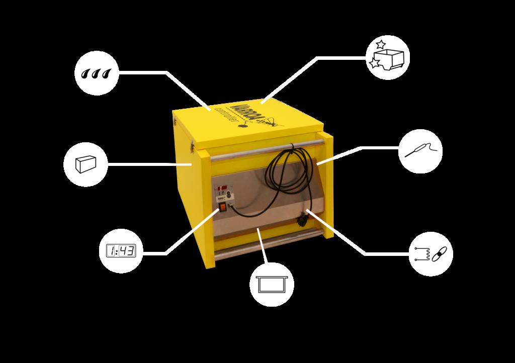 Vlastnosti zariadenia Varroa Controller